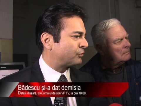 Diseară la știri VP TV: Bădescu și-a dat demisia