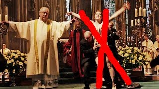 Feminist blasphemer-vandalize Cathedral of Cologne Germany during Christmas mass