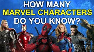 How Many Marvel Characters Do You Know? | 65 Marvel Characters | Challenge/Quiz