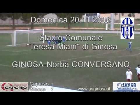 Preview video CAPURSO-GINOSA 1-2 Espugnato Capurso con cuore, grinta ed un super Giampetruzzi