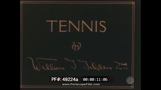1920s VINTAGE TENNIS LESSON WITH CHAMPION WILLIAM TILDEN II  49224b