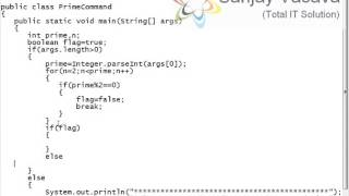 How to Check the Prime Number Program to get Input using Command Line Arguments Input in Java