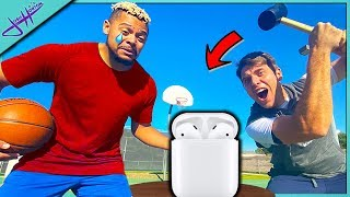 MAKE THE SHOT or I SMASH your AIRPODS! Ft. 2Hype's ZackTTG