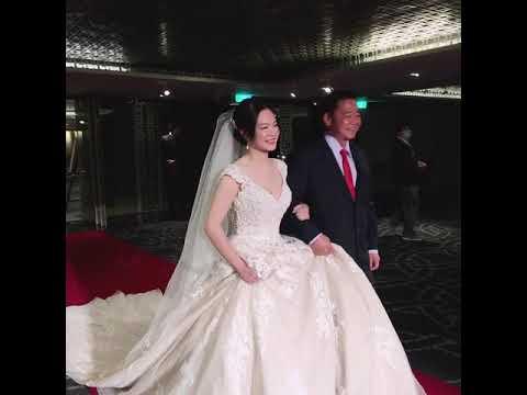 現場錄影,最能看到新娘現場實際的妝髮感覺,是不是超美超有氣質