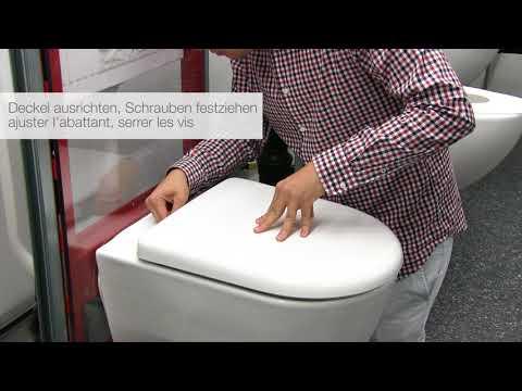 How to... LAUFEN PRO WC-Sitz entfernen, wechseln und einstellen