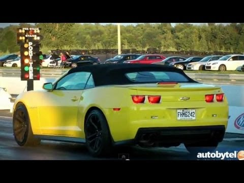 2013 Chevrolet Camaro ZL1 Convertible Goes Drag Racing