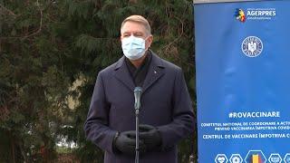 Iohannis: Foarte multă lume doreşte să se vaccineze; foarte multe centre încep în aceste zile să funcţioneze