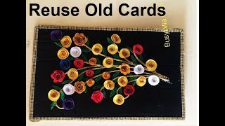 Reuse Old Card, Old Shadi Cards, DIY USE OF INVITATION CARDS, #REUSE OF INVITATION CARDS