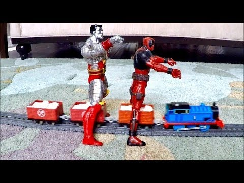 Thomas and Friends   Deadpool & Colossus Kid Friendly Thomas the Tank Engine