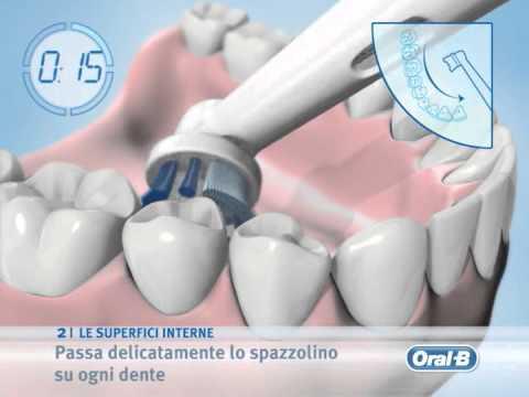 Come lavarsi i denti con lo spazzolino elettrico Oral-b