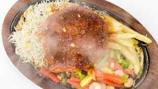 Veg Sizzler Recipe | Best Indian Restaurant Style Vegetable Aloo Tikki Sizzler Recipes Veg