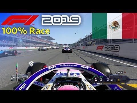 F1 2019 - 100% Race at Autódromo Hermanos Rodríguez, Mexico in Pérez' Racing Point