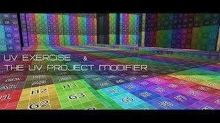 UV Exercise&The UV Project modifier for Auto Global UV's in Blender