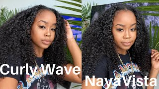 HOW I STYLE MY CURLY WEAVE | CURL WAVE BY NAYAVISTA
