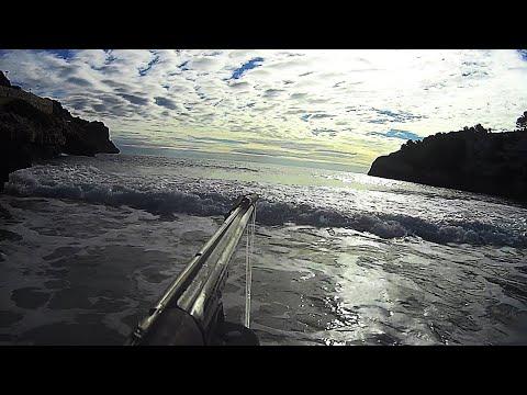 Pesca Submarina Pescando con fuerte Marejada... Puto dentex... Señor que Pu..da