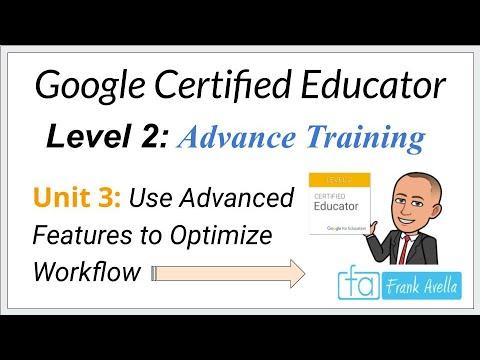 Google Educator Level 2: Unit 3 Training - YouTube