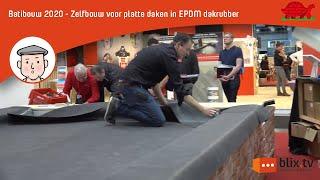 Zelfbouw voor platte daken in EPDM dakrubber