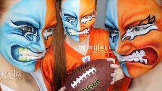 Superbowl 2014 Makeup/Facepaint Tutorial
