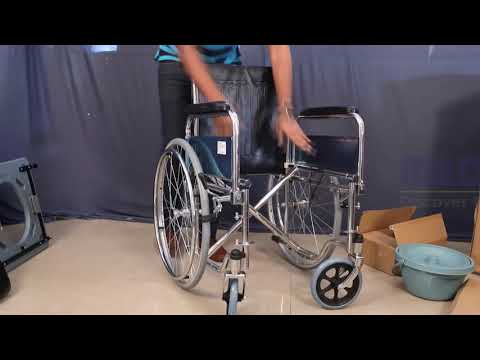 Commode Wheelchair with Detachable Armrest