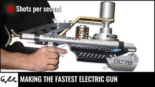 DIY electric rotary gun | 50 shots per second