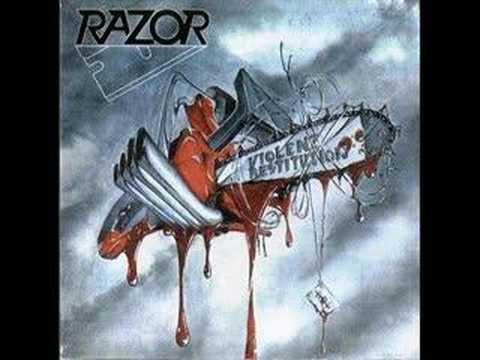 Razor - Violent Restitution online metal music video by RAZOR