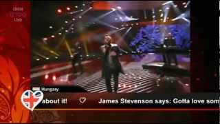 Funny comments on BBC during the recap of Semi Final 1 at Eurovision 2012