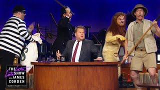 Things Go Silly As James Corden Turns Serious