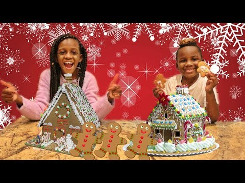 GINGERBREAD HOUSE DECORATING CHALLENGE GIRLS Vs BOYS Mp3
