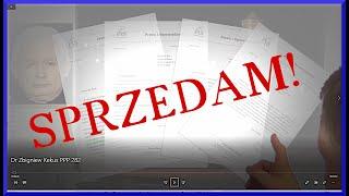 Dr. ZK Z.Kękuś PPP 282 Sprzedam – Muzeum POLIN, Bibliotece Narodowej, PiS – listy do mnie J. Kaczyńskiego