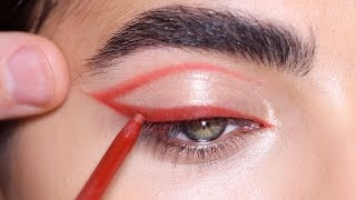 HOW TO: RED EYELINER   Hindash