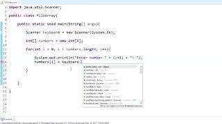 Java Programming Tutorial - 22 - Fill Array with Values