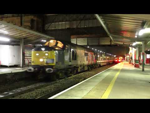 Rail Operations Group 37884 passes Preston with brand new Mk…