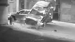 NEAR MISS: Car tumbles seven stories from Austin, Texas parking garage; narrowly missing SUV