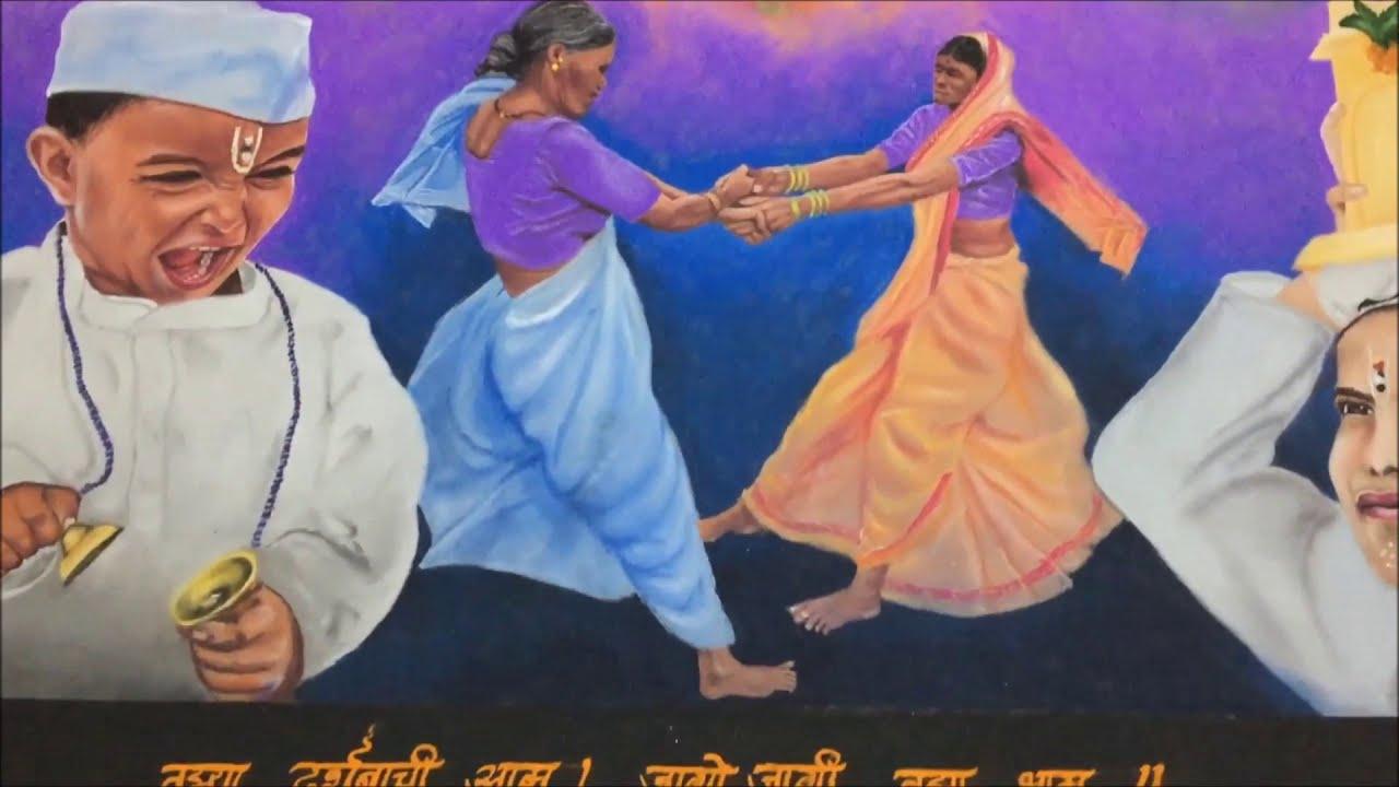 portrait rangoli design pandhareechi waari by ganesh khare