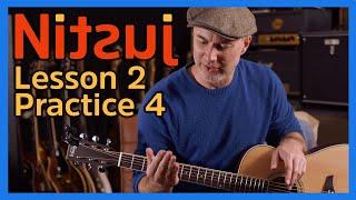 Nitsuj Learning Guitar. Lesson 2 Practice 4 Justin Guitar Beginner Course 2020