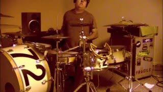 joe perry project david hull -- dirty little things -- a hvyhitr live drum cover