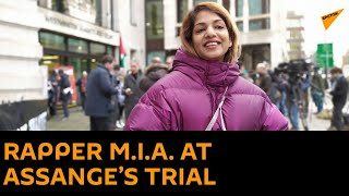 MÓJ KANAŁ Rapper M.I.A. Attends the Julian Assange Extradition Trial