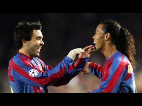 Ronaldinho, Deco & Xavi having Fun !!