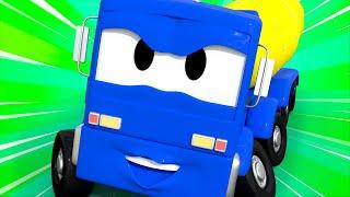 Бетономешалка Кристофер чинит трещину на дороге! - Автомобильный Город 🚄 детский мультфильм