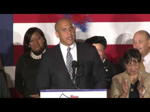 Video: Cory Booker beats Jeff Bell for U.S. Senate seat