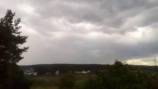 Time Lapse пасмурного неба в Ходосеевке - 2016 год