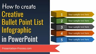Creative Bullet Point List Infographic in PowerPoint