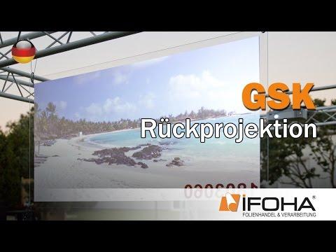 Rückprojektionsfolien für Beamer zur Rückprojektion auf Glas und Plexiglas. GSK