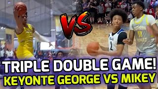 Keyonte George Drops TRIPLE DOUBLE In Superstar Showdown With Mikey Williams & Chris Livingston! 💰