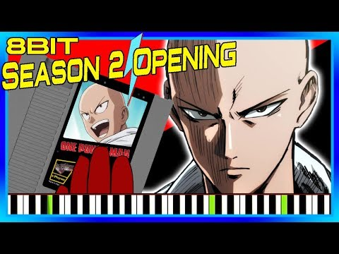 One Punch Man Season 2 Theme [Apostle of Silence] Synthesia (8 Bit Cover)