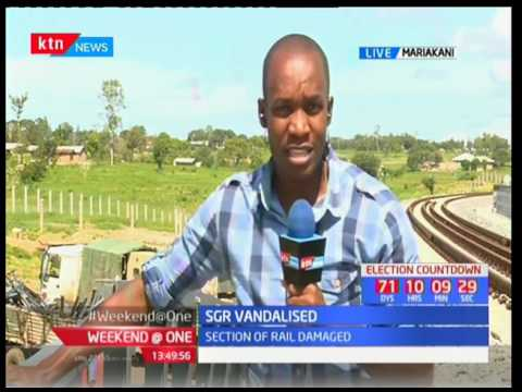 Section of SGR vandalised in Mariakani