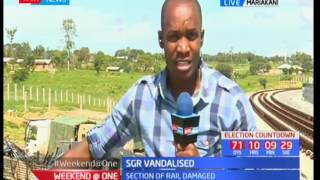 Section of SGR vandalised in Mariakani