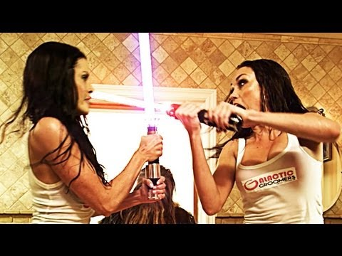 Lightsabres. Chewbacca. Bubble Baths. Babes. This Video Has It All
