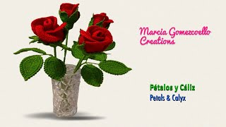 TEJIDOS A CROCHET: Rosas (PARTE 1)/ HOW TO CROCHET: Roses (PART 1)