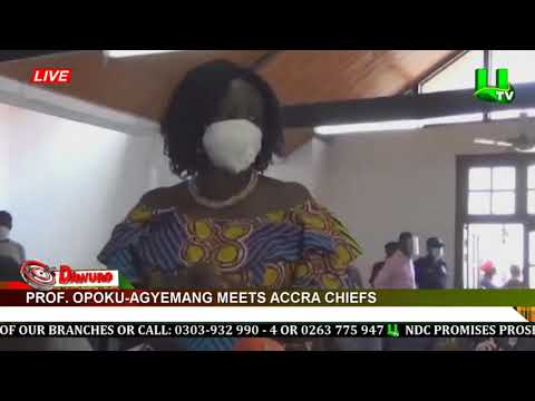 Prof Opoku-Agyemang meets Accra chiefs